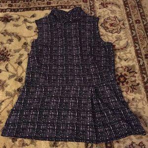 Brooks brothers sleeveless peplum blouse size 8